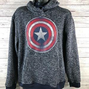 Marvel Avengers Captain America Mens hoodie XL